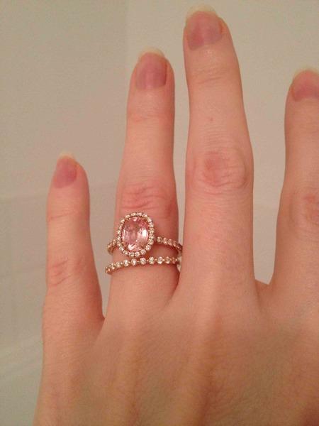 SALE Single prong 21ct diamond wedding band 18k size 5 25